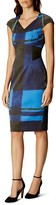 Karen Millen Watercolor Check Dress