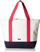 Lacoste Women's Summer Medium Canvas Shopping Bag