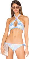 Mara Hoffman Keyhole Halter Bikini Top