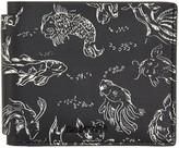 Lanvin Black Koi Print Wallet