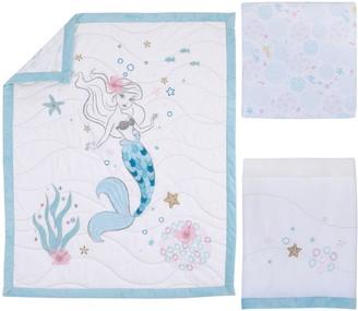 NoJo Disney's The Little Mermaid Ariel Sea Princess Mermaid 3 Piece Crib Bedding Set