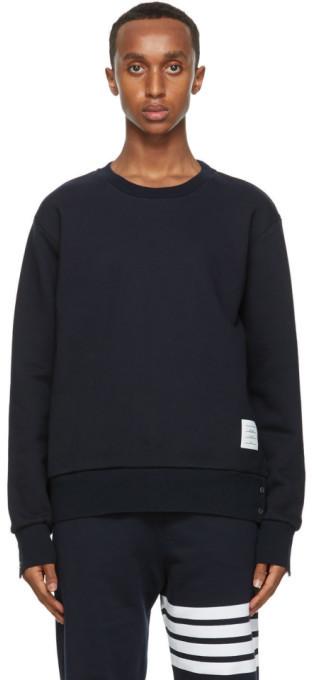 Thom Browne Navy RWB Stripe Sweatshirt