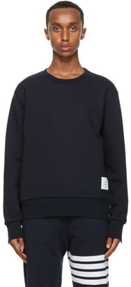 Thom Browne Navy RWB Stripe Sweatshirt