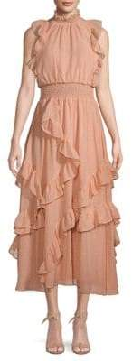 AVEC LES FILLES Ruffle Smocked Dress