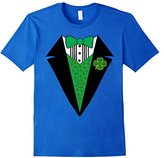 Men's St. Patricks Day Outfit for Boys Men Tuxedo Clover Shamrock Medium