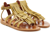 K. Jacques Leather Sandals with Fringe