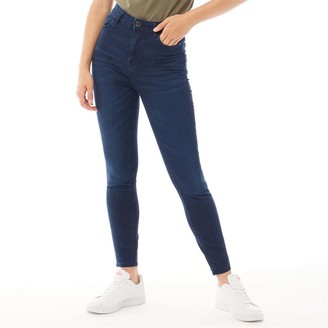 Bench Womens Fay Skinny Fit Jeans Dark Wash