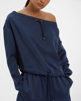 Jaeger Off-Shoulder Drawstring Top