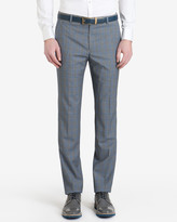 Checked Wool Suit Trousers