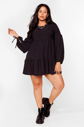 Nasty Gal Womens Tier's the Deal Plus Mini Dress - Black