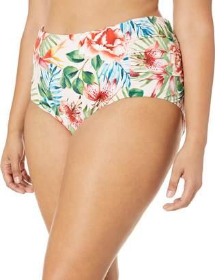 Lucky Brand Women's Plus Size High Waist Hipster Bikini Swimsuit Bottom