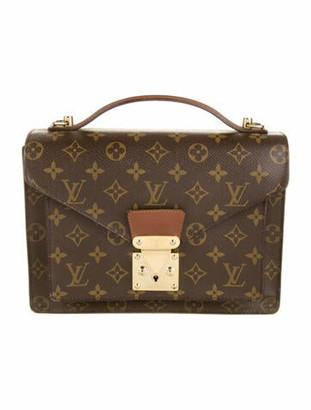 Louis Vuitton Vintage Monogram Monceau 26 Brown