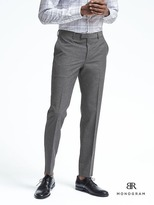 Banana Republic Slim Monogram Gray Wool Blend Suit Trouser