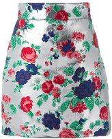 MSGM metallic embroidered skirt