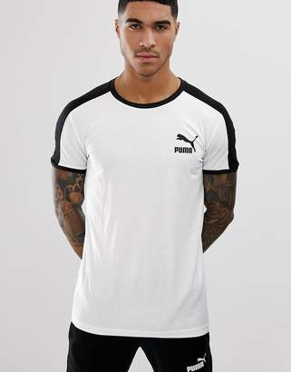 Puma T7 Muscle Fit T-Shirt In White