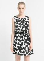 MANGO Heart Print Dress