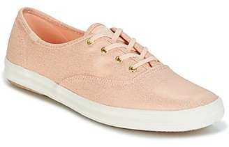 Keds CH METALLIC CANVAS women's Shoes (Trainers) in Pink