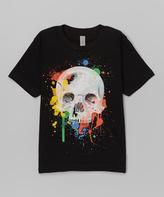 Micro Me Black Splatter Skull Tee - Infant Toddler & Boys