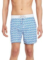 Mr.Swim Temple Printed Swim Shorts