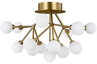 Tech Lighting Mara Flush Mount - Aged Brass