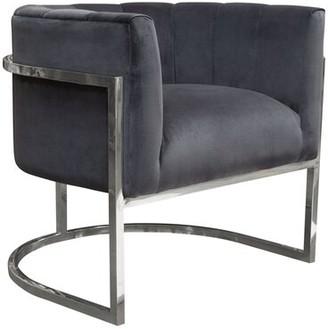Pandora Diamond Sofa Barrel Chair Diamond Sofa Upholstery Color: Midnight
