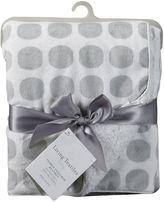 Living Textiles Mod Dot Velboa Blanket, Grey ETP