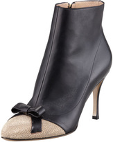 Valentino Micro-Studded Cap-Toe Ankle Boot