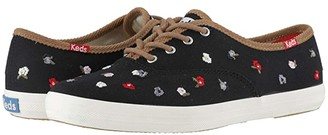 Keds Champion Floral Embroidery (Black Canvas) Women's Shoes