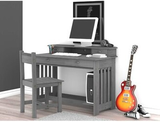 STUDY Darby Home Co Aranza Kids Desk and Chair Set with Kids Hutch Darby Home Co