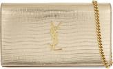 Saint Laurent Monogram lizard-embossed leather shoulder bag