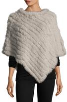 Adrienne Landau Fur Textured Poncho