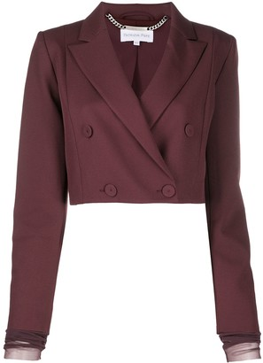 Patrizia Pepe Double-Breasted Cropped Jacket