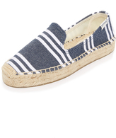 Soludos Striped Platform Smoking Slippers