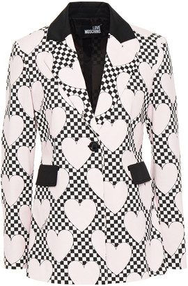Love Moschino Printed Cotton-blend Twill Blazer