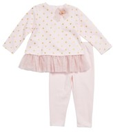 Little Me Infant Girl's Tulle Skirted Tee & Leggings Set
