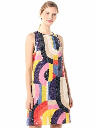 Trina Turk Women's Kaleidoscope Sequin Shift Dress