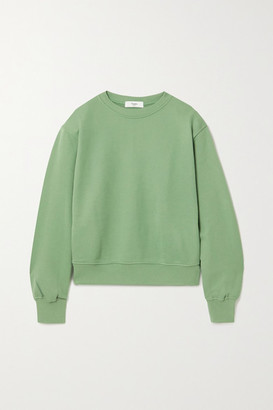 Frankie Shop Vanessa Cotton-jersey Sweatshirt - Leaf green