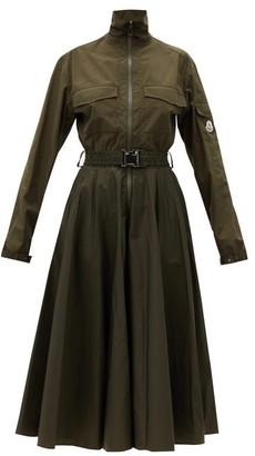 Moncler Belted Shirt Dress - Khaki