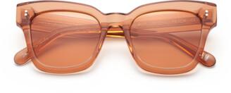 Chimi #005 Clear Sunglasses in Peach