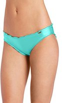 Luli Fama Women's Cosita Buena Wavy Full Ruched-Back Bikini Bottom
