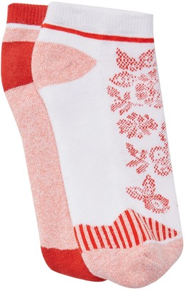Natori Floral Mix No Show Socks - Pack of 2