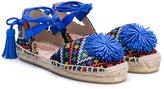 Aquazzura Mini - Mondrian sandals - kids - Raffia/Leather/rubber - 28