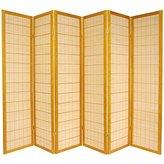 Oriental Furniture Asian Bamboo Furniture, 6-Feet Kimura Japanese Shoji Privacy Screen Room Divider