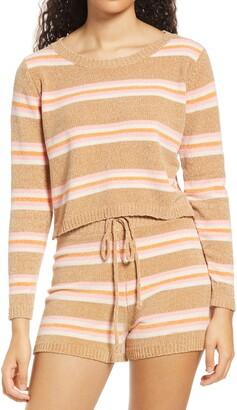 ALL IN FAVOR Stripe Crop Sweater
