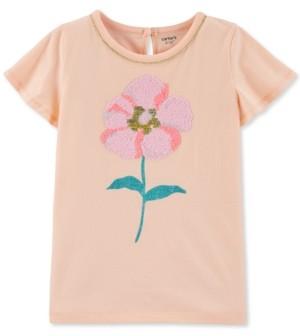 Carter's Little & Big Girls Sequin Flower-Print Cotton T-Shirt