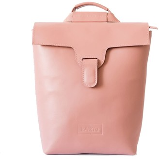 Lucerne Convertible Natural Leather Backpack - Pink