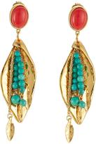 Aurelie Bidermann Pendant Earrings with Stones