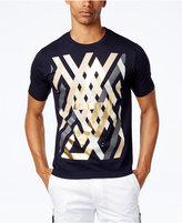 Sean John Men's Linear Geometric Graphic-Print T-Shirt