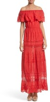 Alice + Olivia Women's Pansy Off The Shoulder Maxi Dress