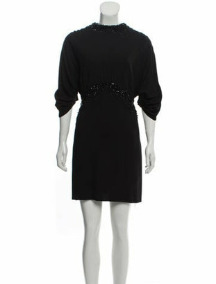 Prada 2018 Embellished Dress w/ Tags Black
